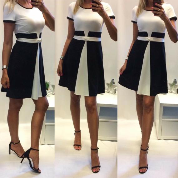 Fekete fehér loknis ruha